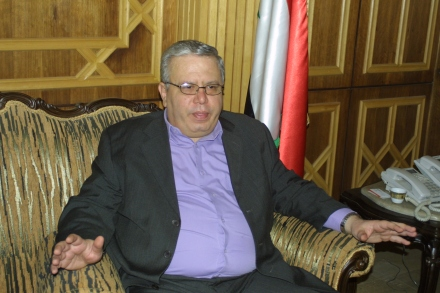 Syria's Minister of Justice Najm al Ahmad. (c) 2013 Reese Erlilch